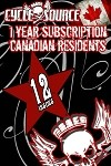 1 YEAR PRINT SUBSCRIPTION - CANADA